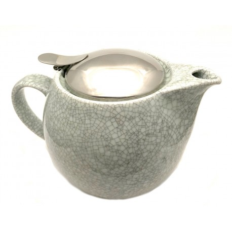 Grey Crackle Bee House Tea Pot - 15oz